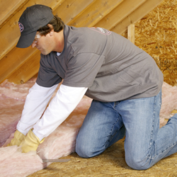 Insulating With Pink Fiberglas Batts Amp Rolls Residential